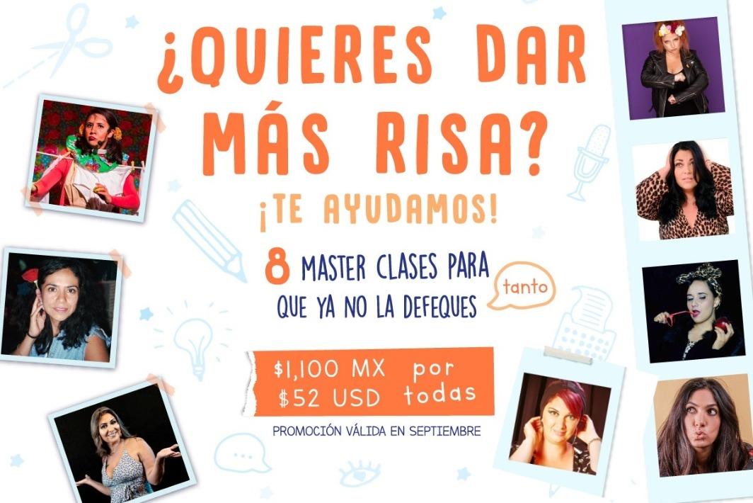 Comedy Fem Fest MasterClasses Promo Spetiembre USD