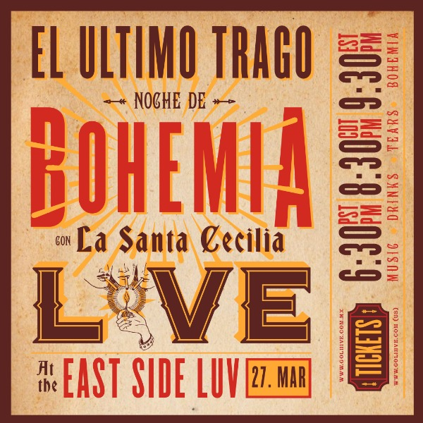 Noche de Bohemia Live at East Side Luv