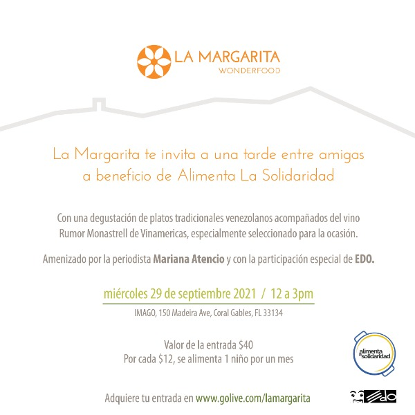 Almuerzo de La Margarita Wonderfood a beneficio de Alimenta La Solidaridad