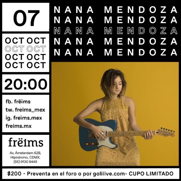 Nana Mendoza en Frëims
