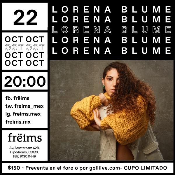 Lorena Blume en Frëims