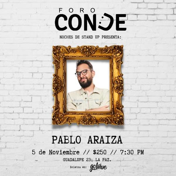 Pablo Araiza en Foro Conde