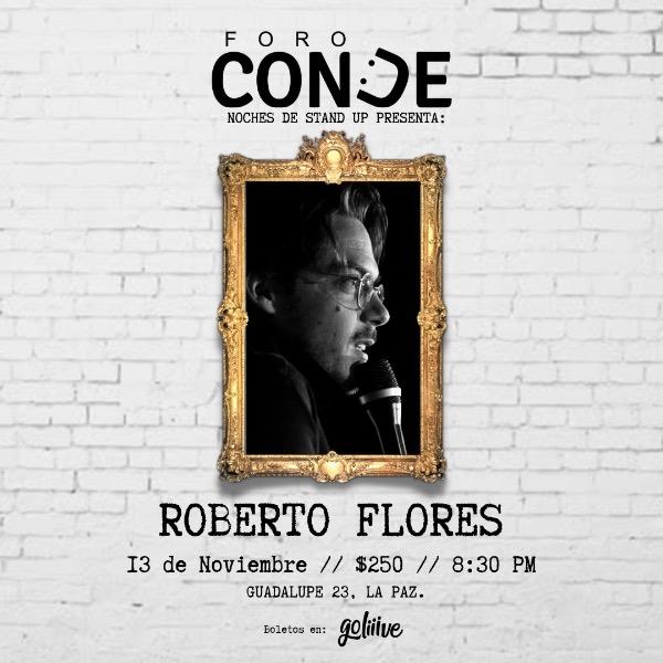 Roberto Flores en Foro Conde