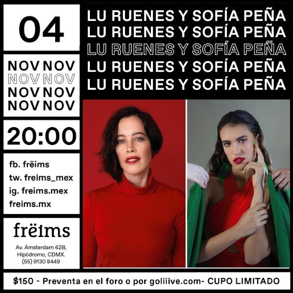 Lu Ruenes y Sofía Peña en Frëims