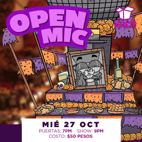 OpenMic con Eliza Sonrisas