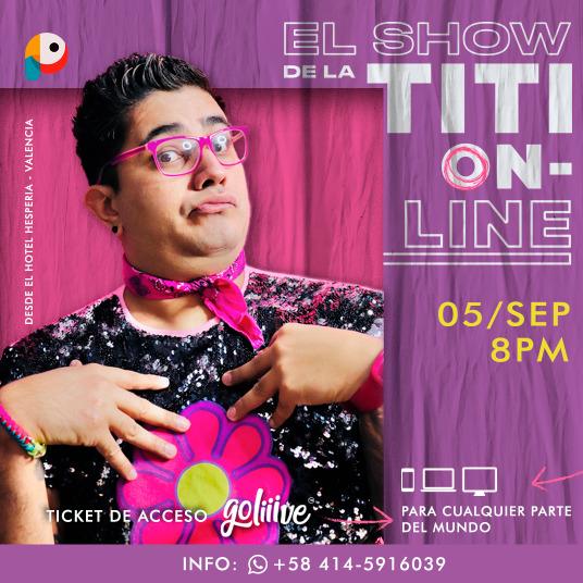 El Show Online de La Titi PAGO EN BOLÍVARES