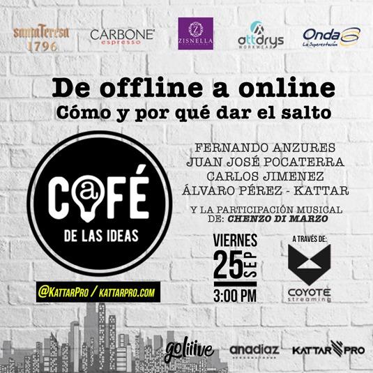 Café de las Ideas: De offline a online PAGO EN BOLÍVARES