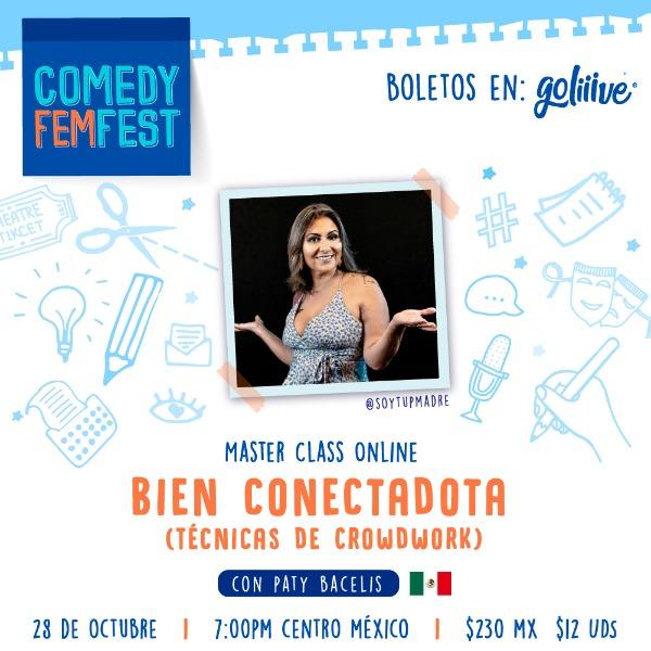 "Masterclass ""Bien Conectadota"" Crowd Work para comediantes USD"
