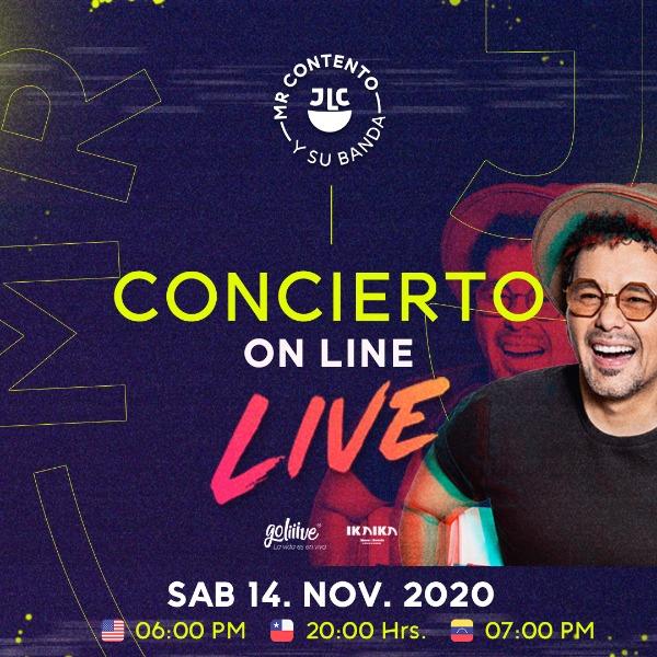 Concierto On Line Live de Jorge Luis Chacín PAGO EN BOLÍVARES